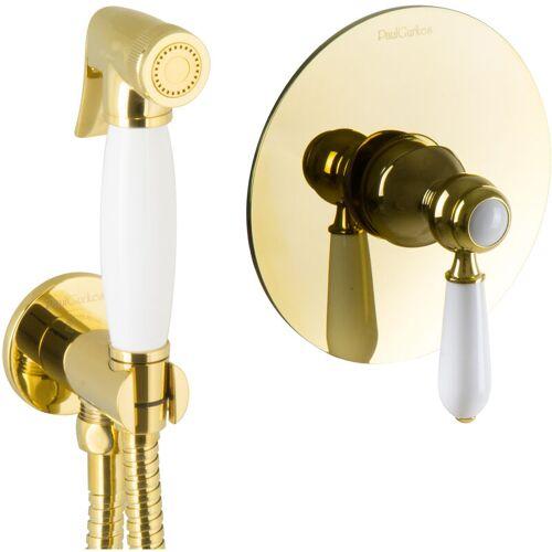 PAULGURKES Bidet Unterputz Gold Hygienedusche Intimdusche Set Spraybrause