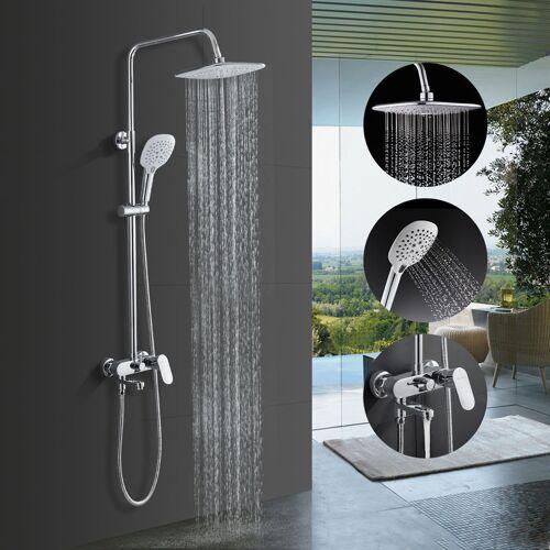 IHOUSE BONADE Duschsystem mit Armatur Regendusche Duscharmatur Set inkl. 9