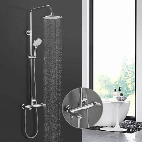 IHOUSE BONADE Duschsystem mit armatur Regendusche Edelstahl Duschset inkl. 9