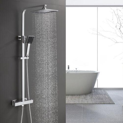 IHOUSE BONADE Duschsystem Regendusche ohne Armatur Duschsäule Edelstahl