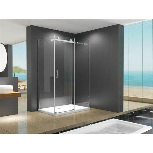 BuyLando.Shop U-Form Duschkabine Schiebesystem Ida 120x80x195 cm ohne