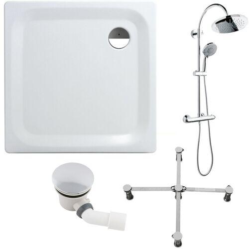 Calmwaters® - Essential Soft - Bodengleiche Dusche aus Stahl in 90 x 90