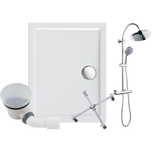 CALMWATERS ® - Modern Select - Bodengleiche Dusche in 100 x 80 cm im Set mit
