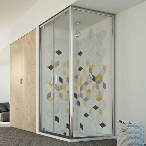IDRALITE Cristal Duo 2 Türen Duschkabine 110x90 ÖF. 110 CM H198 ESG-Klarglas