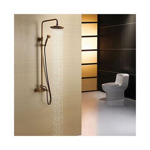 LOOKSHOP® Dusch-Armatur aus antikem Messing mit Duschkopf 8' und Handbrause