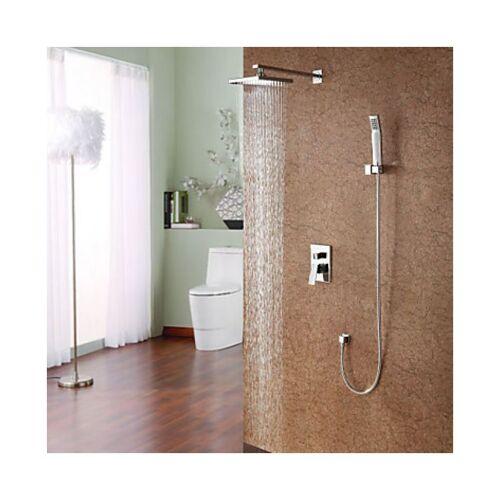 LOOKSHOP® Duscharmatur modern mit Duschbrause (8'') und Handbrause - LOOKSHOP®