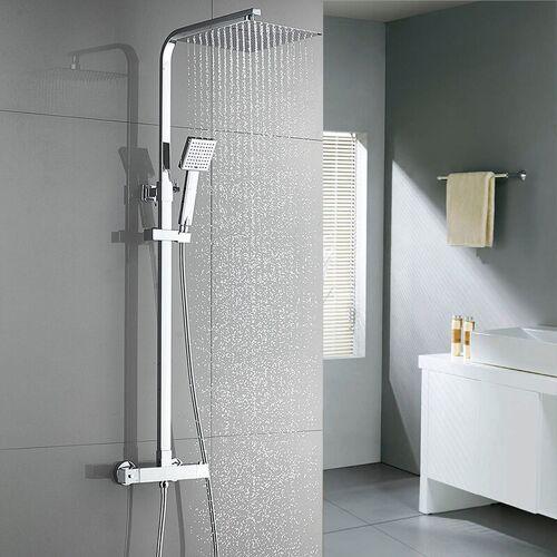 AURALUM Regendusche mit Thermostat Duscharmaturen Set Duschset Brausethermostat