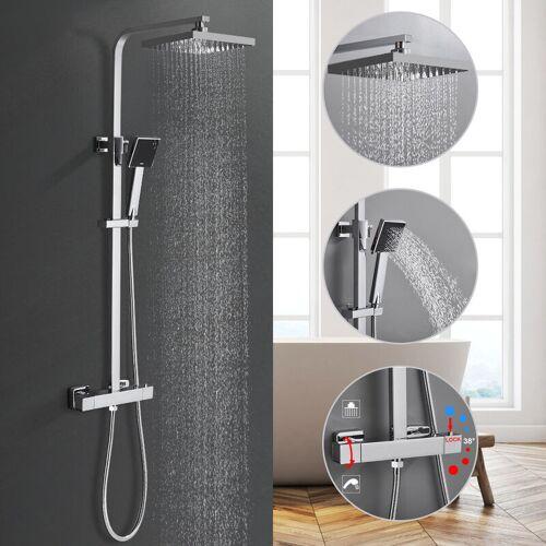 BONADE Duschsystem mit Thermostat Regendusche Duscharmatur mit