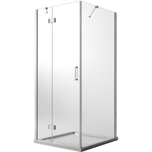 IDRALITE Duschkabine 80x120 CM H190 Klarglas mit Easy-Clean Mod. Flip Tür +