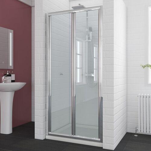 SONNI Duschkabine 90cm Duschabtrennung in Nische Nischentür Falttür Duschtür