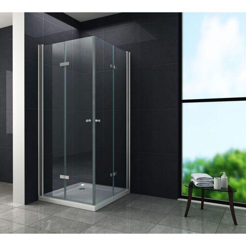 GLASDEALS Duschkabine CLAP 90 x 75 x 195 cm - Klarglas - GLASDEALS