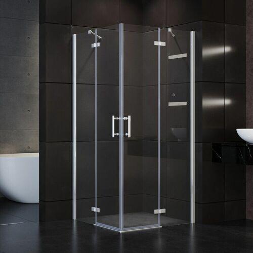 SONNI Duschkabine Duschabtrennung Eckeinstieg 80 cm Dusche Scharniertür