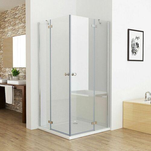MIQU 75 x 75 cm Duschkabine Eckeinstieg Duschwand Dusche