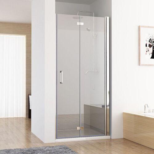 MIQU Nischentür Duschabtrennung Duschwand Dusche 180° Falttür Nano ESG 90 x