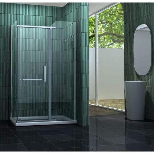 IMPEX-BAD Duschkabine ENCO 100 x 80 x 195 cm ohne Duschtasse - IMPEX-BAD