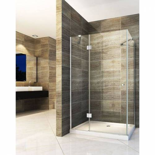 IMPEX-BAD Duschkabine NORMA 100 x 80 x 190 cm ohne Duschtasse