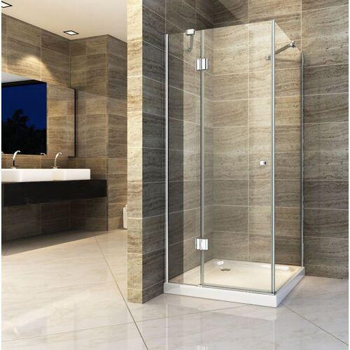 IMPEX-BAD Duschkabine NORMA 100 x 100 x 190 cm ohne Duschtasse