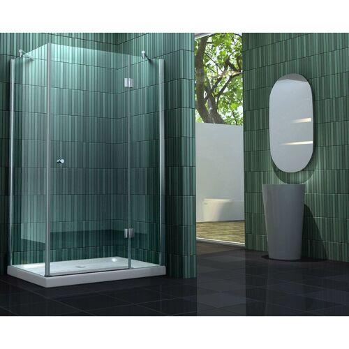IMPEX-BAD Duschkabine SILL 120 x 100 x 195 cm ohne Duschtasse - IMPEX-BAD