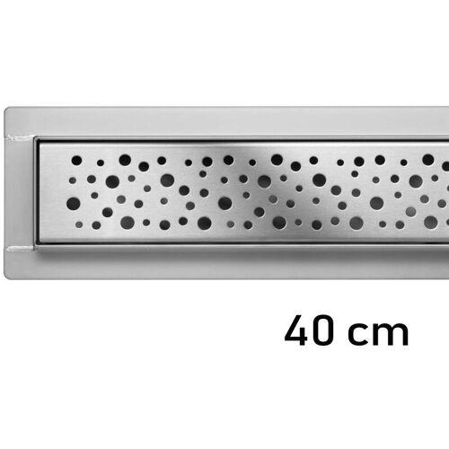 FALA Duschrinne Bodenablauf Modell Napo Edelstahl Siphon Ablaufrinne 40 cm