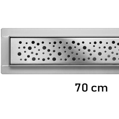 FALA Duschrinne Bodenablauf Modell Napo Edelstahl Siphon Ablaufrinne 70 cm