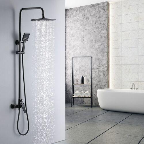 AURALUM Duschset Regendusche Duschsystem Regenduschset Klassisches Schwarz