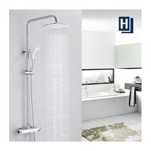 HOMELODY Duschsystem mit Thermostat Mischer, Duscharmatur Thermostat mit