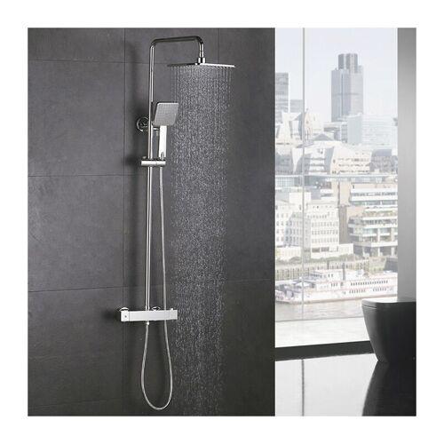 HOMELODY Duschsystem mit Thermostat Regendusche Duschset Duschsäule Dusche
