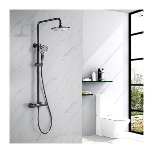 HOMELODY Dusche Duschsystem mit Thermostat, 2 Funktionen Duschset Regendusche