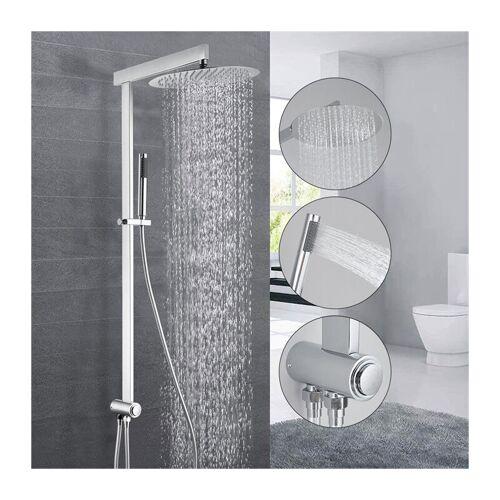 HOMELODY Duschsystem ohne Armatur regendusche Duschset mit Regenbrause,