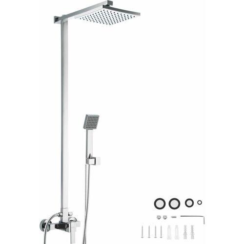 TECTAKE Duschsystem Regendusche mit Handbrause - Duscharmatur, Regendusche,
