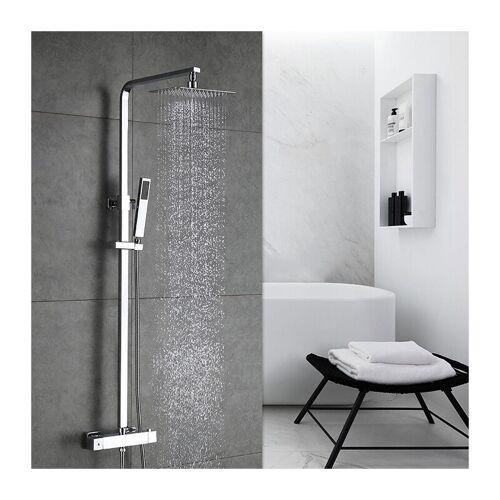 HOMELODY Duschsystem Regendusche mit Thermostat Duschset Duschpaneel