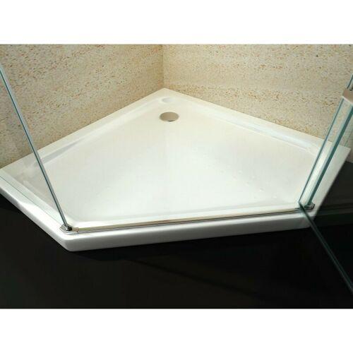 BERNSTEIN Duschtasse Duschwanne Fünfeck Acryl - 100 x 100 cm - inkl.