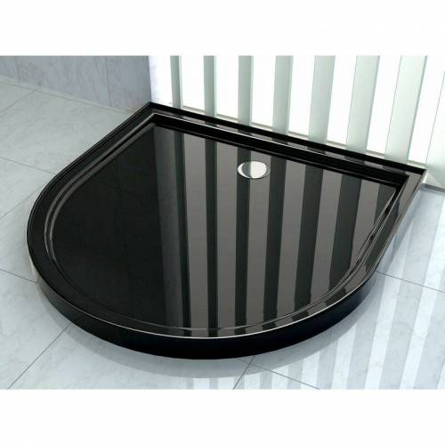 GLASDEALS Duschtasse für U-Duschen 100 x 100 cm (schwarz) - Schwarz - GLASDEALS