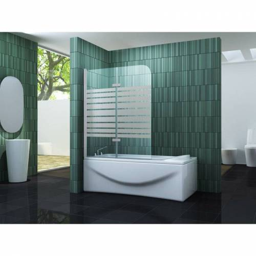 IMPEX-BAD Duschtrennwand TWO-F 100 x 140 (Badewanne) - IMPEX-BAD