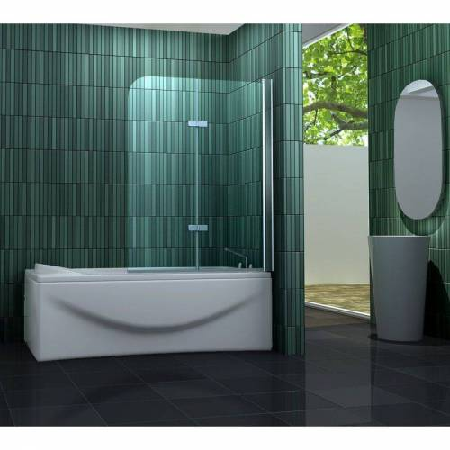 IMPEX-BAD Duschtrennwand TWO 100 x 140 cm (Badewanne) - IMPEX-BAD