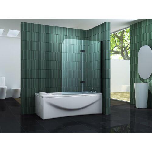 IMPEX-BAD Duschtrennwand TWO - schwarz 120 x 140 (Badewanne) - IMPEX-BAD