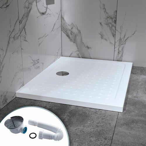 I-FLAIR Duschwanne Duschtasse aus Sanitäracryl inkl. Ablaufgarnitur (Syphon)