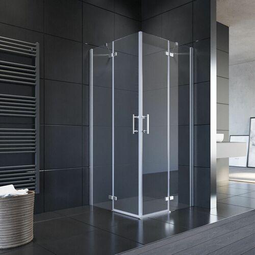 SONNI Eckeinstieg Duschabtrennung 90x90cm Duschkabine Eckdusche ESG Glas