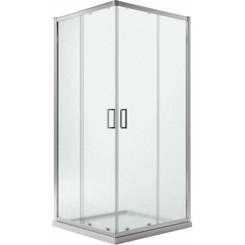 IDRALITE Eckeinstieg Duschkabine Quadratisch 90x90 H198 Satiniert 6mm Glas Mod.