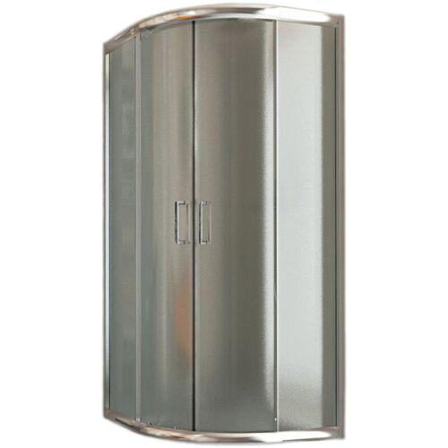 IDRALITE Eckeinstieg Duschkabine Runddusche 80x80 H185 Satiniert 6mm Glas Mod.