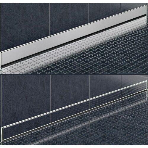 ALPHABAD Edelstahl-Duschrinne zur Wandmontage (80 cm)
