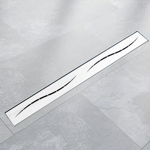 BITUXX 110cm Edelstahl Duschrinnen Ablaufrinnen Bodenablauf Duschrinne