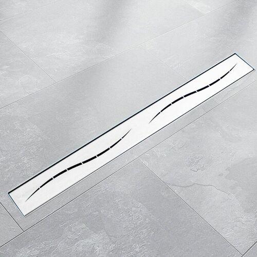 BITUXX 120cm Edelstahl Duschrinnen Ablaufrinnen Bodenablauf Duschrinne