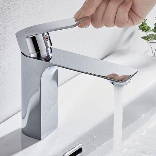 WOOHSE Eleganter Wasserhahn Bad Armatur Waschtischarmatur Badarmatur