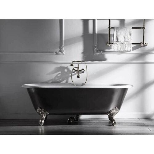 BÄDERMAX Freistehende Nostalgie Badewanne Bradford aus Guss in weiß von