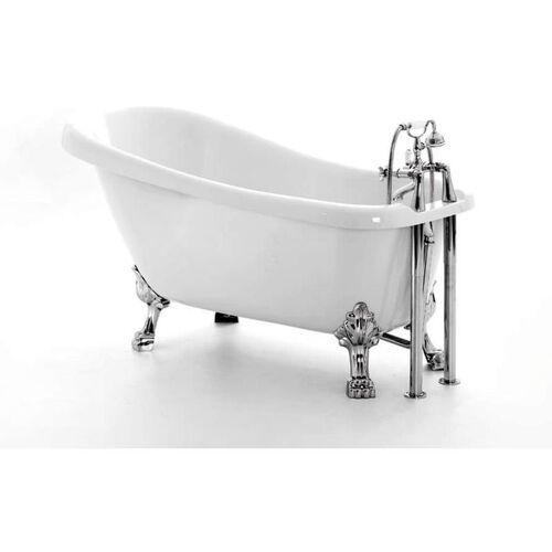 Bädermax - Freistehende Nostalgie Badewanne Oldham aus Acryl in weiß
