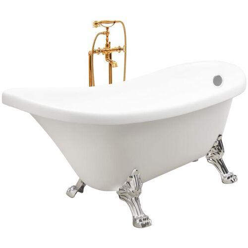 Vidaxl - Freistehende Badewanne und Wasserhahn 204 L 99,5 cm Golden
