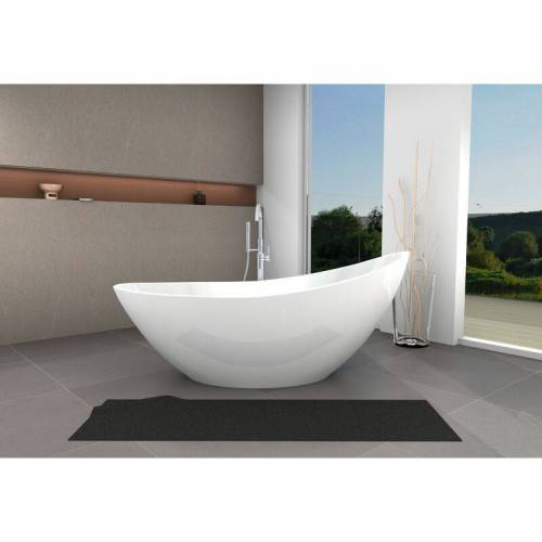 BERNSTEIN Freistehende Badewanne VICE aus Acryl - 183,5 x 78,5 x 77 cm - Farbe &