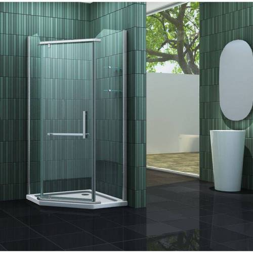 IMPEX-BAD_DE Fünfeck-Duschkabine FIVE 100 x 100 x 195 cm ohne Duschtasse