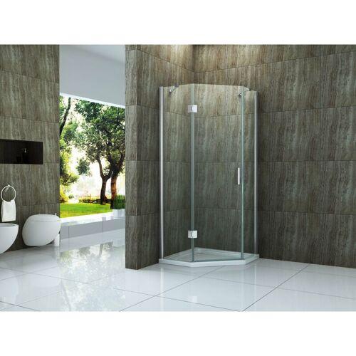 ALPHABAD Fünfeck-Duschkabine NOOK 100 x 100 x 195 cm ohne Duschtasse - ALPHABAD
